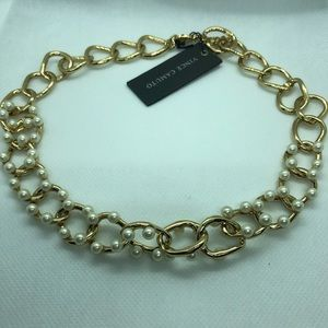 🆕Vince Camuto Faux Pearl Chunky Link Necklace